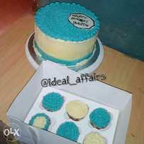 Order a cake and get a box of 6 cupcake free