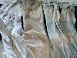 Slightly used new curtains for door or window 800/ each .