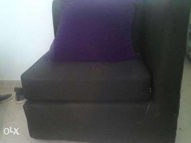 L seven Sitters Soffer on sale . Black in colour Purple BIG cushions . Mtwapa - image 3