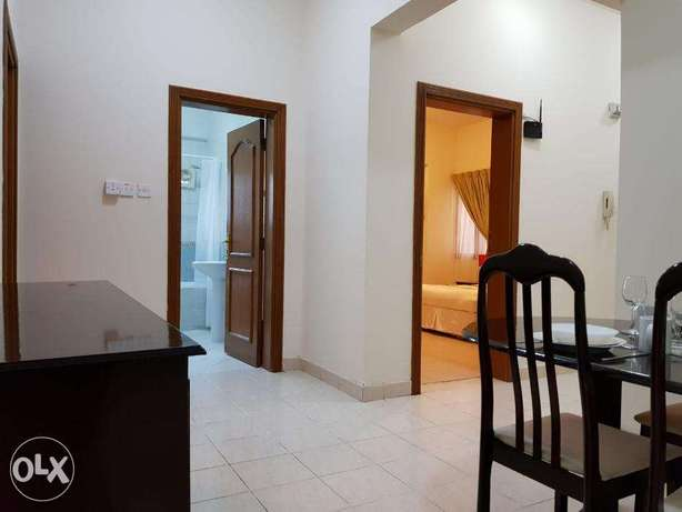 F/Furnished 2 bhk 5500qr in Mansoura monthly or yearly