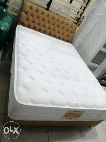 Queen size bed and L shape sofa for sale contact WhatsApp
