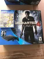 ps4 PlayStation 4 500 gig slim brand new with 2 games