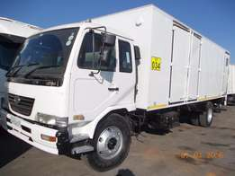 Fantastic Nissan UD90 closed body for sale.