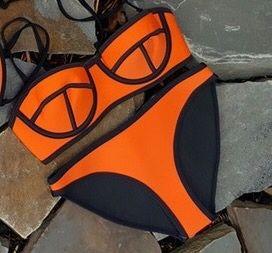 c87ff01f9dab26 Neoprenowe neonowe bikini pianka neopren strój kąpielowy Myszków - image 1