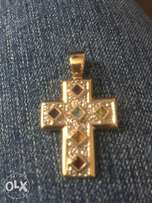 Spelling 9 ct gold cross with color stones great Mother day present