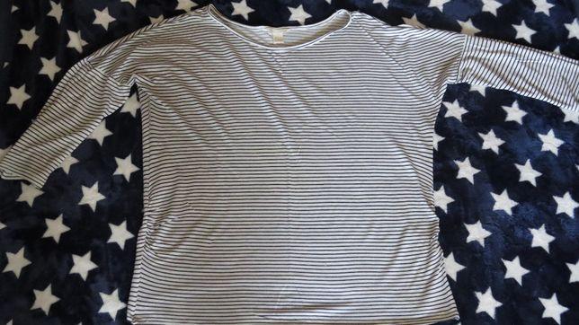 211ccbf70b Bluzka ciążowa biała w granatowe paski firmy H M - Poznań - Sprzedam bluzkę  w dobrym stanie