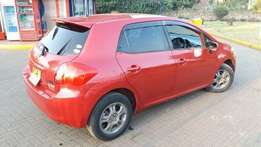 trade in ok..Toyota auris kca..wine red.clean