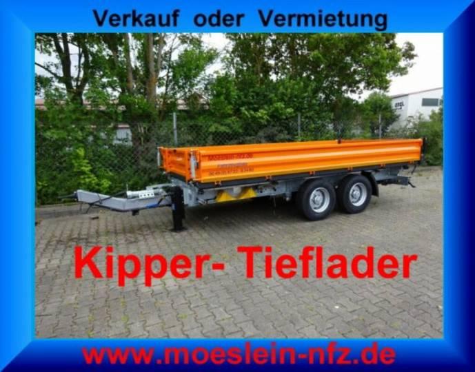 Möslein TTD11 Orange Tandem Kipper Tieflader-- Neufahrze - 2019