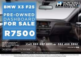 Pre-owned BMW Spares available. X3 F25 Dashboard R7500