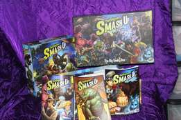 Smash up board game and 3 expansion packs for sale
