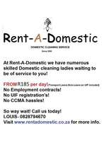 Rent – A – Domestic - Established in 2006