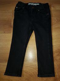20746797dc8b1e Czarne spodnie jeansy wąskie h&m w rozm 86/92 z lyckra