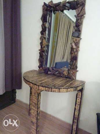 Antique table and mirror Hazina - image 1