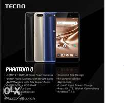 TecnoPhantom 8 Brand new, warranted, Free glass protector & delivery