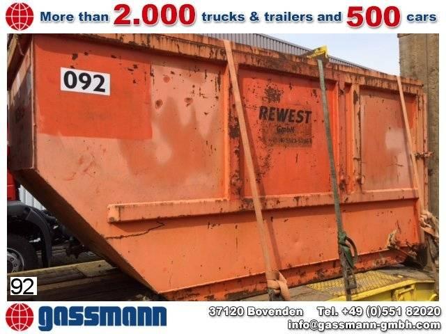 Absetzcontainer 10m³ mit Deckel - 2007