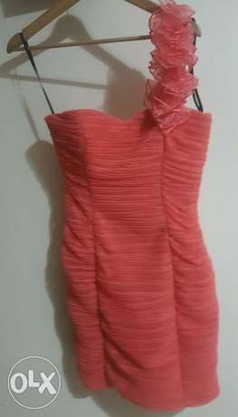 Short dress corail