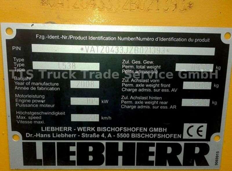 Liebherr L 538 2plus1 -auch mit Schnellwechsler,Waage usw - 2008 - image 13