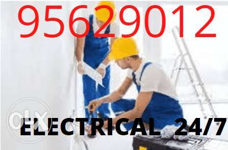 Electrician opens for any electric and plumbing works any time,