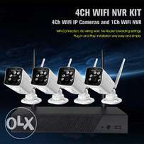 4CH 720P Wireless Wifi NVR Kit IP Camera Security Cameras