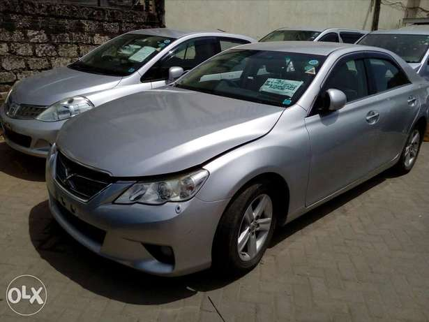 Toyota mark x silver colour new plate number fresh import Mombasa Island - image 1