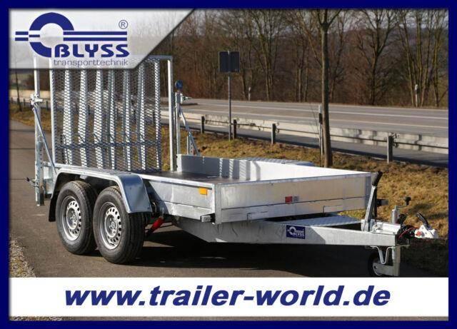 Blyss Minibagger Maschinenanhänger 305x155x18 cm 2,7 t