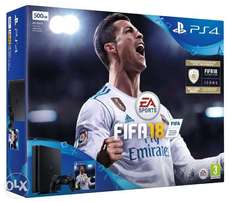 PS4 and FIFA18 bundle with 1 year warranty for 33,999