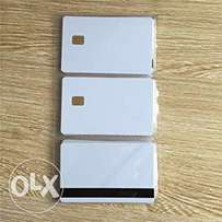 Plastic cards, NFC Mifare, RFID, Magstripe, Contact Chip Smart cards