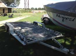 Double exal. car trailer,new license