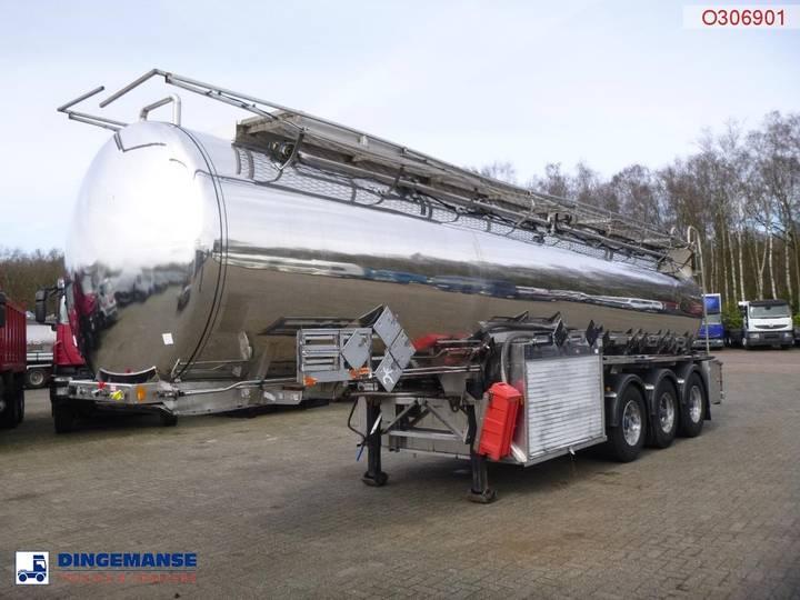 Clayton Chemical/Oil tank inox 30 m3 / 8 comp + pump/counter - 2001