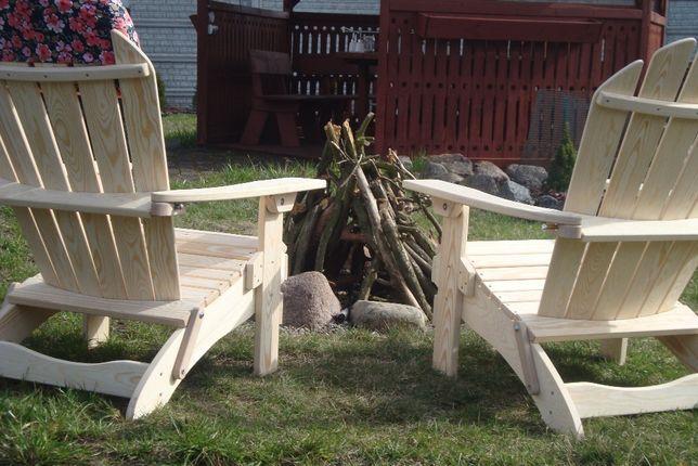 Drewniane Fotele Składane Tarasowo Ogrodowe Adirondack