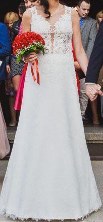 1b83eee68a Ekskluzywna koronkowa suknia ślubna z programu W czym do ślubu!40%ceny Łódź  -