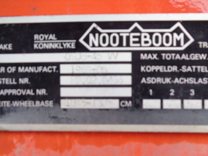 Nooteboom 48TON! Extendable long + wide + multiple pressure points - 1989 - image 20