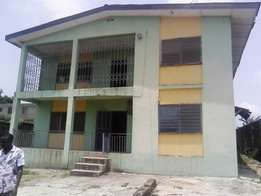 A strong story Building is available for sale at Ago Iwoye,Ogun State.