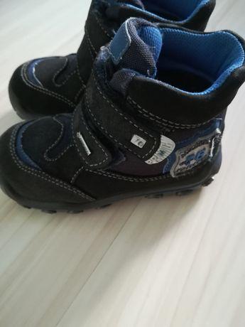 Buty zimowe chłopięce r 23 skórzane, 14cm