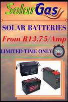 Solar batteries from only R13-75 per ah!!!