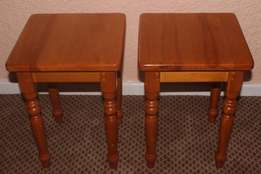 2 Yellowood Side Tables - R325.00 Each