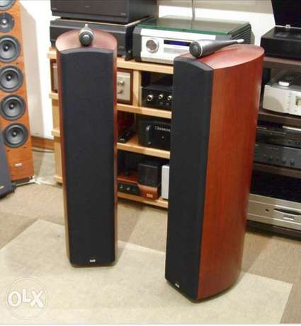 B&W 704 home speakers walnut