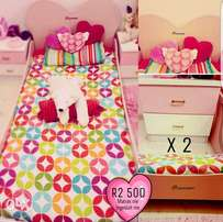 Princess Single Bed with 2 bedside tables