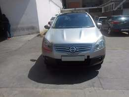 Nissan Qashqai supper jet 1.6 2009 model silver color 80000km R130000