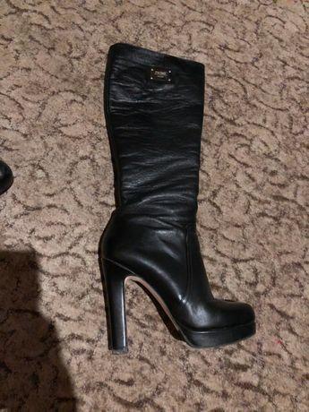 ffc34e79aed9 Сапоги женские кожаные Турция черные Tucino натуральная кожа 38 р ...