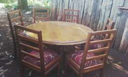 New hard wood dinning table with six chair