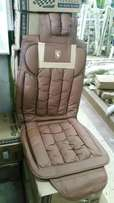 Brown seat covers