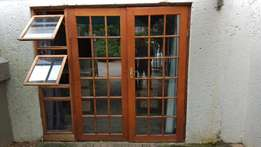 Meranti cottage pane double doors and windows for sale