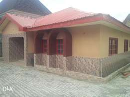 3bedroom detached bungalow with a large compound