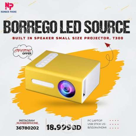 18.999BD Mini Projector Mini Projector Portable LED Home Theater for