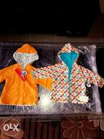 Reversible zip hoodie for babies,age(6M).