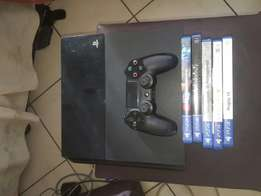 Ps4 with one controller 5 games