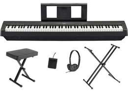 Yamaha P-45 88 fully weighted keys, Fully cushioned bag and stand