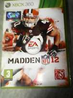 Madden 12 football game