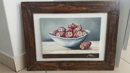 Beautiful painting of prickly pears directly from the artist